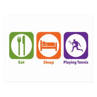 Eat Sleep Playing Tennis Postcard