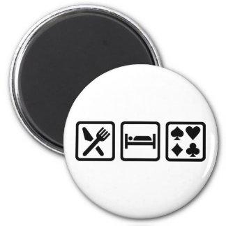 Eat Sleep Poker 2 Inch Round Magnet