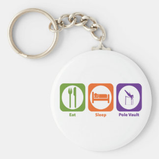 Eat Sleep Pole Vault Key Chain