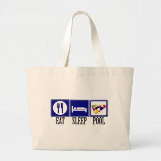Eat, Sleep, Pool Canvas Bags