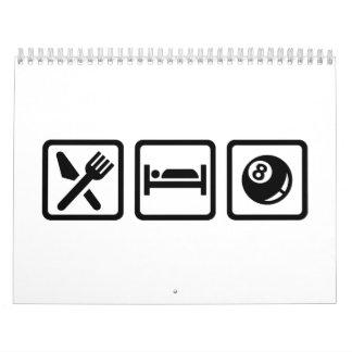 Eat Sleep Pool Billiards Calendar