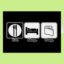 eat sleep poop card