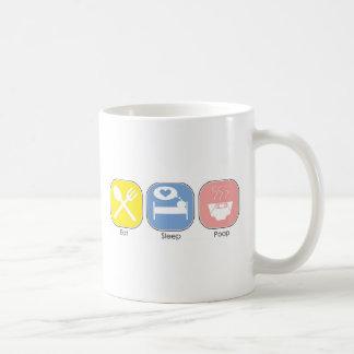 Eat Sleep Poop Classic White Coffee Mug