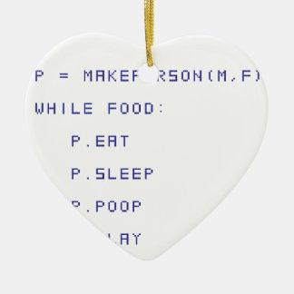 eat sleep poop play ceramic ornament