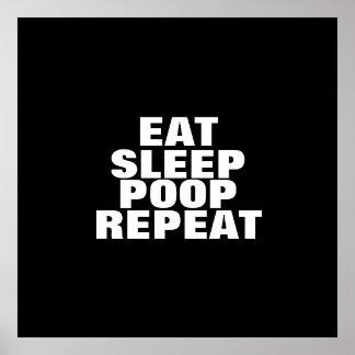 Eat, Sleep, Poop, Repeat Poster