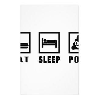 EAT SLEEP POOP STATIONERY
