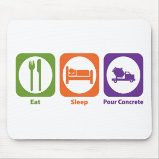 Eat Sleep Pour Concrete Mouse Pad
