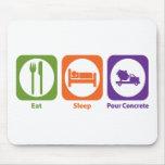Eat Sleep Pour Concrete Mouse Pads