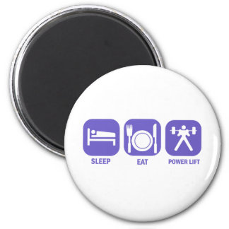 eat sleep power lift 2 inch round magnet