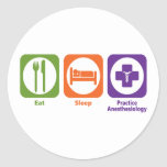 Eat Sleep Practice Anesthesiology Classic Round Sticker