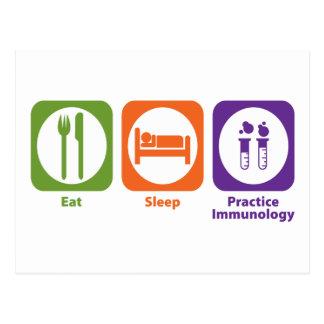 Eat Sleep Practice Immunology Postcard