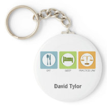 Eat sleep, practice law keychain