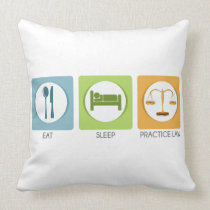 Eat sleep, practice law throw pillow