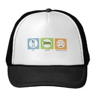 Eat sleep, practice law trucker hat