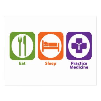 Eat Sleep Practice Medicine Postcard