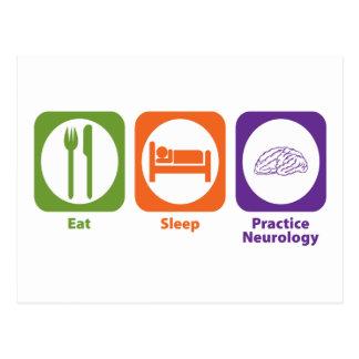 Eat Sleep Practice Neurology Postcard