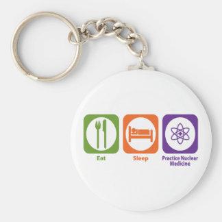 Eat Sleep Practice Nuclear Medicine Basic Round Button Keychain