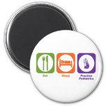 Eat Sleep Practice Pediatrics 2 Inch Round Magnet