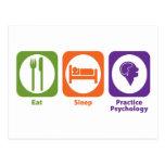 Eat Sleep Practice Psychology Postcard