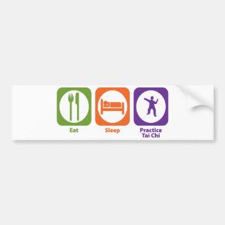 Eat Sleep Practice Tai Chi Bumper Sticker