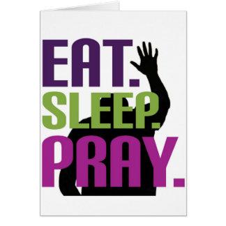 Eat Sleep Pray Card