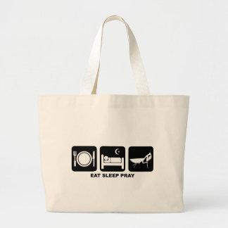 eat sleep pray jumbo tote bag