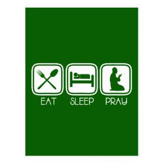Eat Sleep Pray Postcard