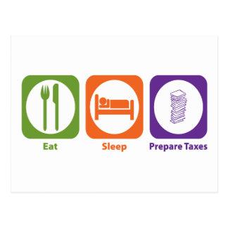 Eat Sleep Prepare Taxes Postcard