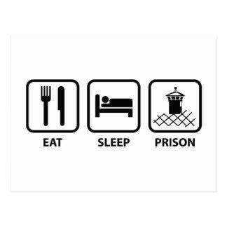 Eat Sleep Prison Postcard