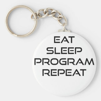 Eat Sleep Program Repeat Keychain