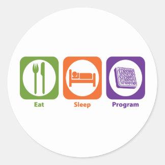 Eat Sleep Program Sticker