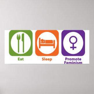 Eat Sleep Promote Feminism Poster