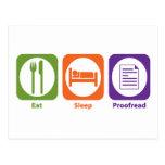 Eat Sleep Proofread Postcards