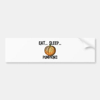 Eat Sleep PUMPKINS Car Bumper Sticker