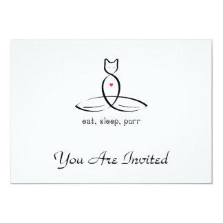 Eat Sleep Purr - Fancy style text. 5x7 Paper Invitation Card