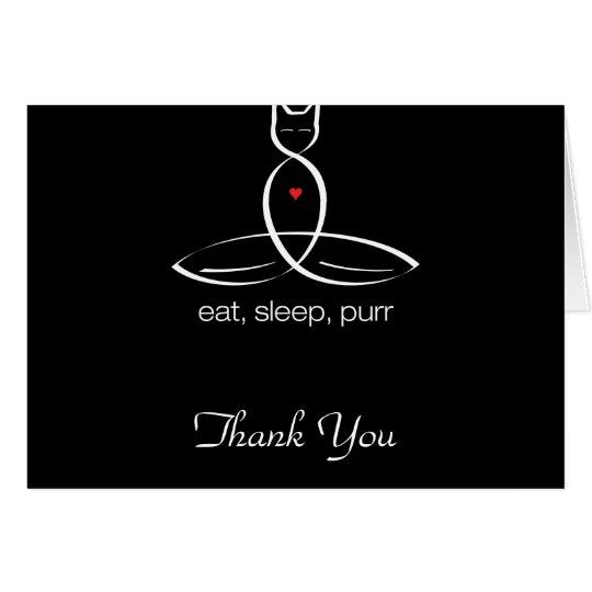Eat Sleep Purr - Regular style text. Card