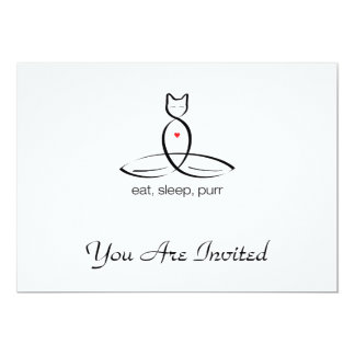 Eat Sleep Purr - Regular style text. 5x7 Paper Invitation Card