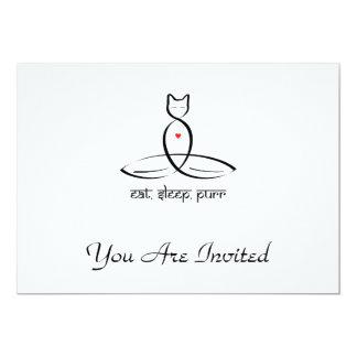 Eat Sleep Purr - Sanskrit style text. 5x7 Paper Invitation Card
