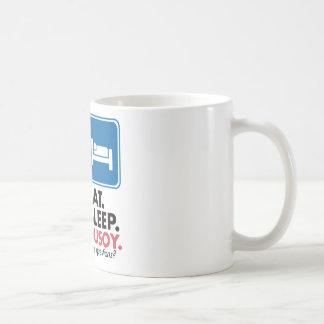 Eat Sleep Pusoy - Red Blue Coffee Mug