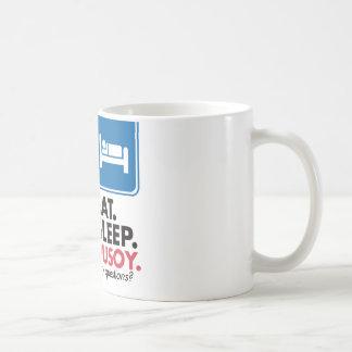 Eat Sleep Pusoy - Red Blue Yellow Coffee Mug