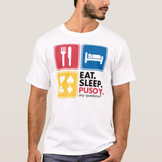 Eat Sleep Pusoy - Red Blue Yellow T-Shirt