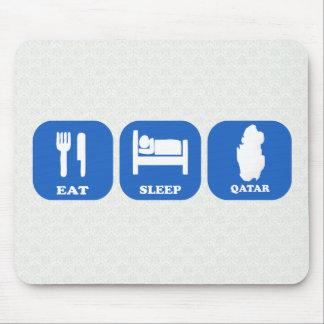 Eat Sleep Qatar Mousepads