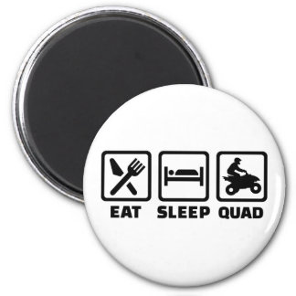 Eat sleep Quad 2 Inch Round Magnet