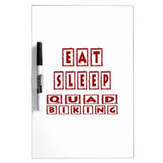 Eat Sleep Quad Biking Dry-Erase Board