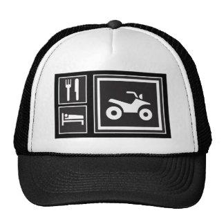 Eat Sleep QUAD! Hats