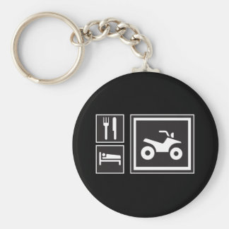 Eat Sleep QUAD! Keychain