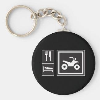 Eat Sleep QUAD! Keychains