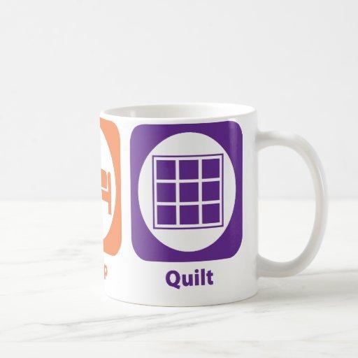 Eat Sleep Quilt Classic White Coffee Mug