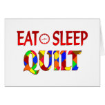 Eat Sleep Quilt Greeting Cards