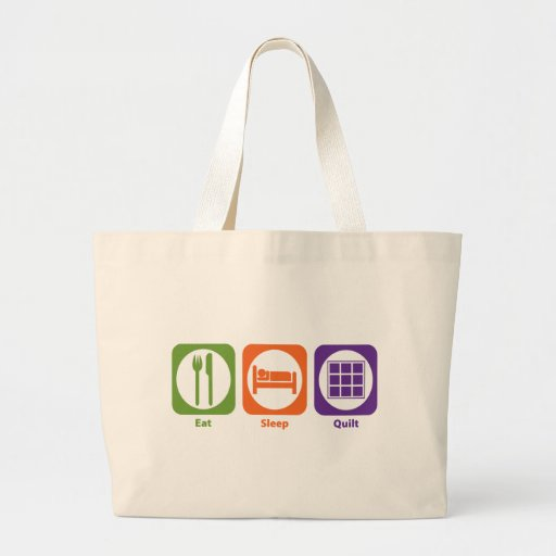 Eat Sleep Quilt Jumbo Tote Bag